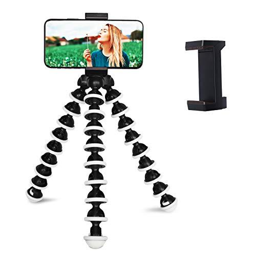 GRIFEMA GB1002 - Mini Trípode, Trípode Pulpo Flexible, Soporte Portátil con Tornillos de 1/4 pulgadas para Teléfonos Móviles y Cámaras (Exclusivo en Amazon)