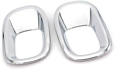 arri/ère en acier inoxydable Silencieux D/Échappement Tip Extr/émit/é Tuyau Coque Trim 2 pcs pour accessoire de voiture