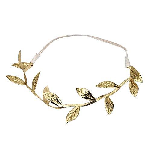 Corona de la diosa griega - corona - faja - elástico - hojas - laurel - graduación - disfraz - disfraz - carnaval - halloween - mujer - niña dorado - idea de regalo para navidad y cumpleaños