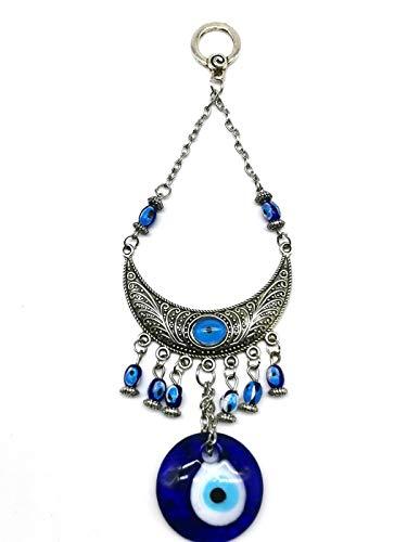"""Dekoration """"böser Blick"""" im türkischen Stil, Hand der Fatima mit blauem Auge, metall, moon, 26cm*10cm"""