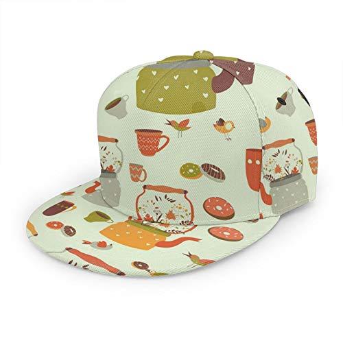 Gorra de béisbol 3D con diseño de factura plana, con flores, ala plana, ajustable, gorra clásica para papá, sombrero de camionero para hombres y mujeres, color negro