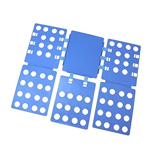 BIZS Camisa Plegable Tablero Camiseta Camiseta Camisetas T Shirts Ropa Carpeta Plástico Lavandería Carpetas Placas Plegables (Color : Azul)