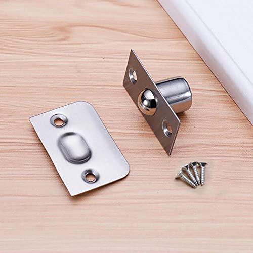 ZHHRHC Amortiguador de succión magnético de puerta para Hotel KTV Box Puerta Cerradura de bola de resorte de cobre Puerta de madera Pestillo de tapón de puerta invisible