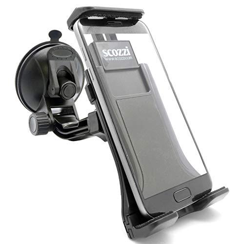 scozzi 360° Universal Handyhalterung Auto Saugnapf Autoscheibe Scheibe KFZ Handy Halterung Halter (kompatibel mit Samsung & iPhone) S21 S20 S10 S9 A71 A51 A50 M51 12 11 X XS XR Plus Ultra Max Mini Pro