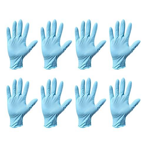 EXCEART 20 Piezas Guantes de Nitrilo Desechables para Procesamiento de Alimentos Salones de Jardinería Talleres de Fábrica Peluquería Examen Médico Tatuaje Tamaño L (Azul)