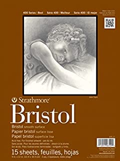 "Strathmore 400 Series Bristol, 2-Ply Smooth, 11""x14"" Tape Bound, 15 Sheets"