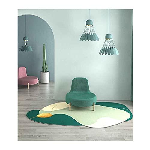 Alfombra suave, moderna, simple, ligera, de lujo, forma especial, alfombra para el hogar, dormitorio, sala de estar, mesita de noche, piso, alfombra, decoración antideslizante, 3.2x5.2 5.2x7.8 pies