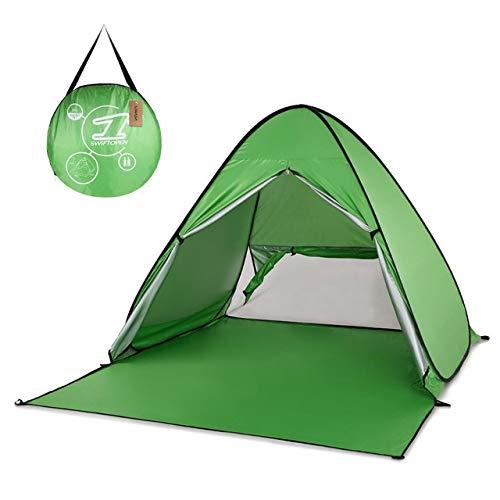 Tent SISI Shop de Plein air Camping Automatique instantanée Pop Up de Plage légère UV Protection Contre Le Soleil Abri Zelt Touristique 8.4 (Color : Green)