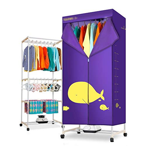 EVEN Portable Ventless Cloths Dryer Folding Drying Machine with Heater,Three Layers of Large Capacity,Timing Range: 10-180min,15KG Large Load Bearing
