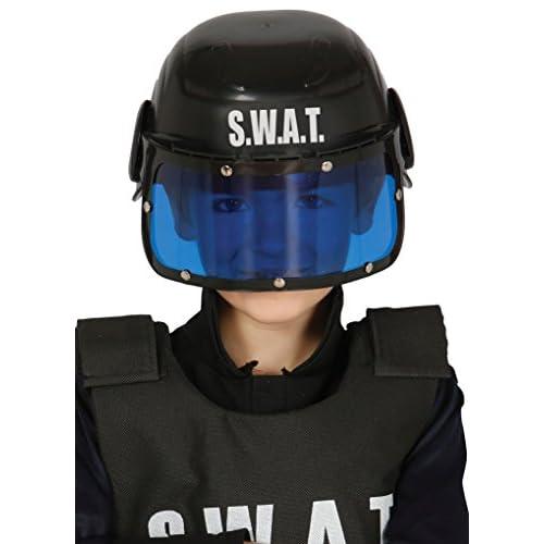 Guirca 13365.0 - Casco polizia S.W.A.T per bambini, taglia unica, colori assortiti, 1 pezzo