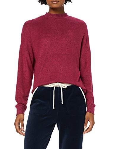 find. Damen Langärmeliges Oversized-Sweatshirt aus Jersey, Rot (Berry), 40, Label: L