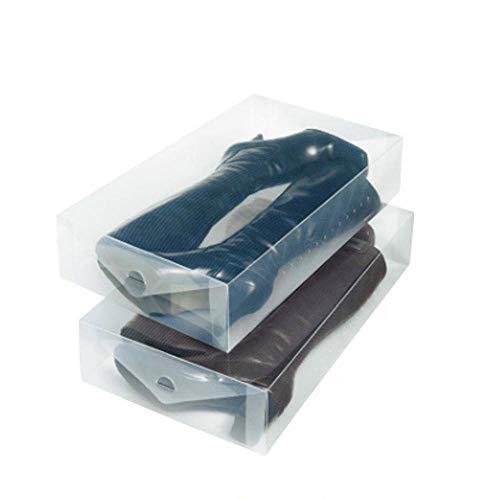 Poesschneider 4 scatole di Stivali Pieghevoli in plastica Trasparente 52,5 x 31 x 12 cm