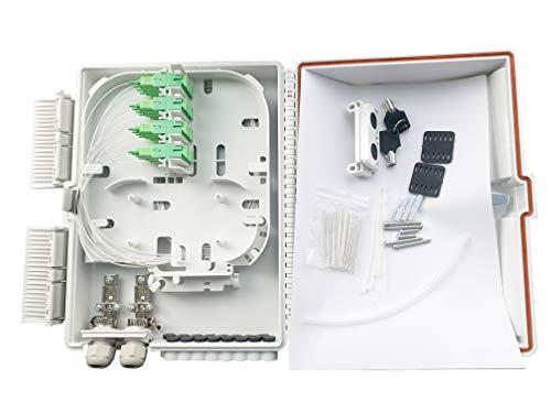 Elfcam - Separadores (PLC Splitter), Splitter PLC de fibra óptica, tipo módulo de inserción, SC APC Monomodo (1 x 16)