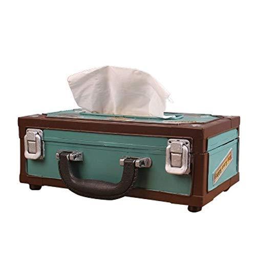 Pkfinrd Caja de papel con forma de radio retro, caja de papel de seda, caja de almacenamiento para toallas, caja de tela para barra principal, caja de oficina (color: A)