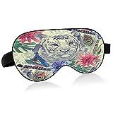 Máscara de sueño Acuarela Tigre y Flor Imprimir Máscara de ojo para dormir Acuarela Tigre y Estampado de Flores Máscara de Dormir Máscara de Ojos para Dormir