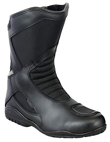 VASTER Scarpe da Moto in Pelle – Stivali da Motociclista, Stivali Corti alla Caviglia, Impermeabili, per Uomo e Ragazzo