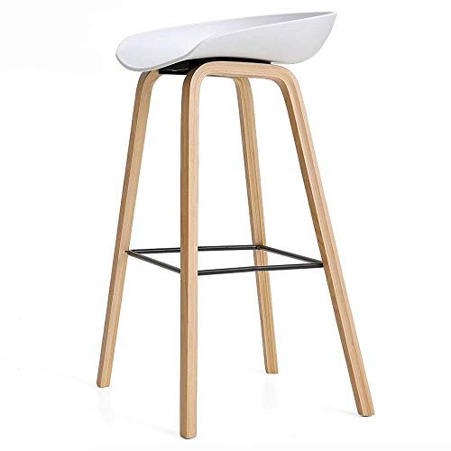 BDLYZ Yxsd barkruk modern Simplicity keukenstoel massief houten frame barkruk ringvormige pedaal bar meubel opslaggewicht 150 kg zithoogte 70 cm meerkleurig optioneel