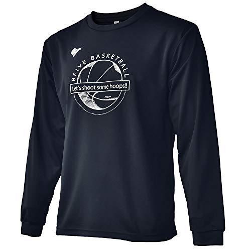 [ビーファイブ] Tシャツ 長袖 BF-TEE-BALLLOGO-LS-BLK (M, ブラック/ホワイト(ボールロゴ))