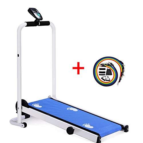 XWDQ Forocean Cinta de Correr Plegable For Health Fitness con Soporte para Dispositivo, absorción de Impactos e inclin(no eléctrica) ación