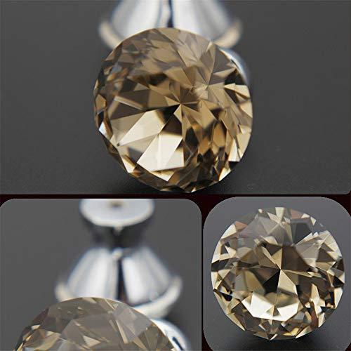 Kristallen deurknoppen handgrepen 10 stuks van 30 mm helder / champagne / zwart kristal glas knop handvat voor kast dressoir kast lade robuuste en duurzame decoratie voor thuis keuken kantoor