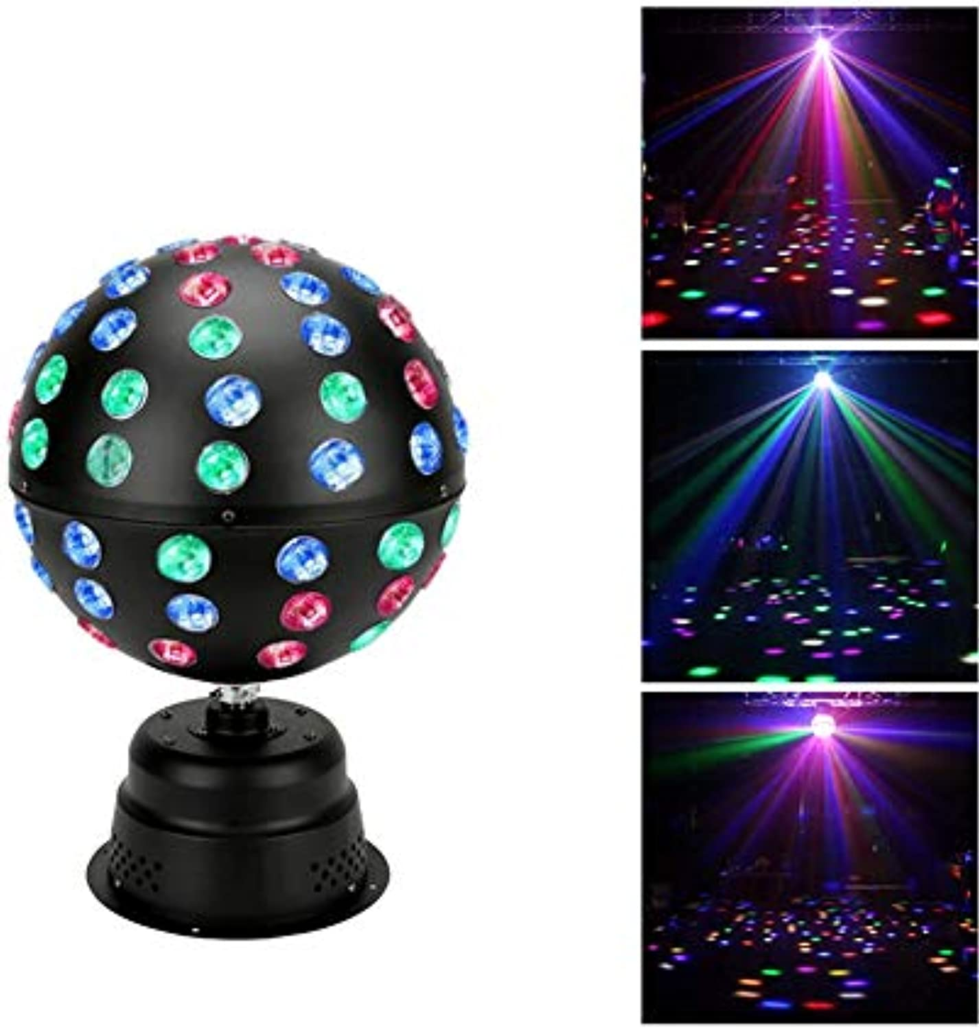 Disco Party Lights- WTD  Disco Lights Ball 18 LEDs Drehen Bühne Lichter Sound Aktivierung Party Beleuchtung RGB Kristall Magische Kugel Für Kinder Hause Geburtstagsfeier Karaoke Club Weihnachtsfest -