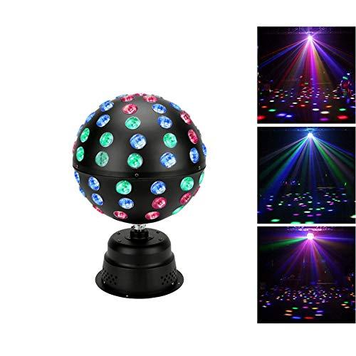 XWZH Girar 18 LED Luces de discoteca bolas, Karaoke Festival de Navidad del club de iluminación RGB de cristal luces de la etapa de sonido Partido activación niños partido casero cumpleaños de bola má