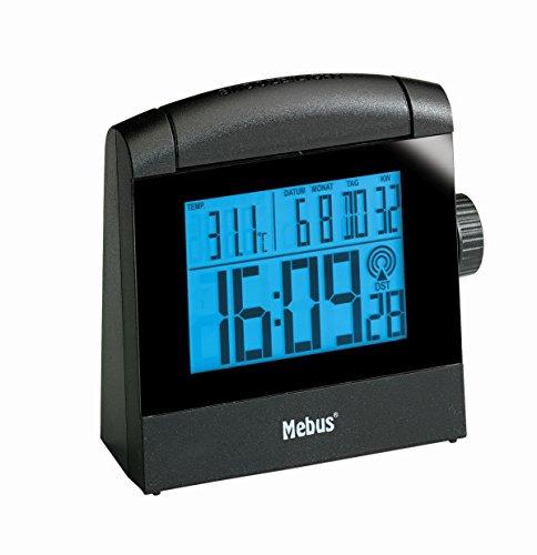 Mebus Funkwecker, digital mit Einstellrad und LCD-Hintergrundbeleuchtung
