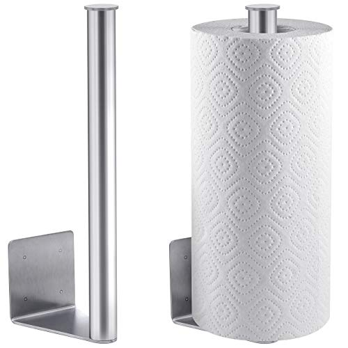 Magnetic Mount Paper Towel Holder, For Indoor/Outdoor Use, Attaches to Grill, Fridge, Truck, RV, Tailgate, and More, Heavy Duty Stainless Steel