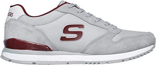 Skechers Sunlite WALTAN Sportschuhe in Übergrößen Grau 52384 Gry große Herrenschuhe, Größe:47.5