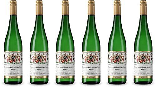6x Piesporter Goldtröpfchen Auslese Riesling Edelsüß 2018 - Weingut Josef Reuscher Erben, Mosel - Weißwein