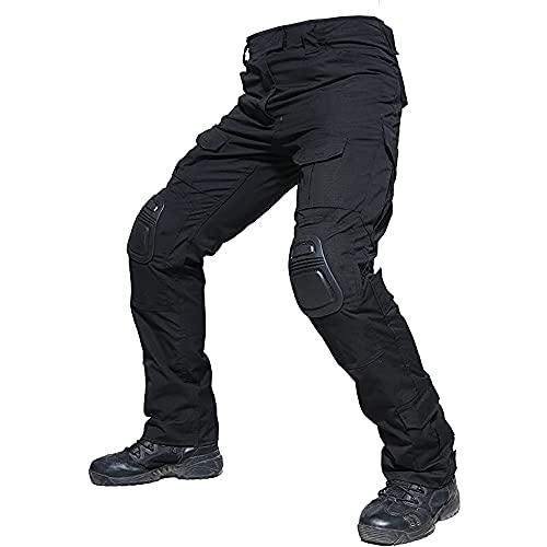 Digralne Pantalones tácticos Militares Pantalones De Carga BDU Pantalones Airsoft Pantalones Multibolsillos Exteriores Pantalones con Rodilleras