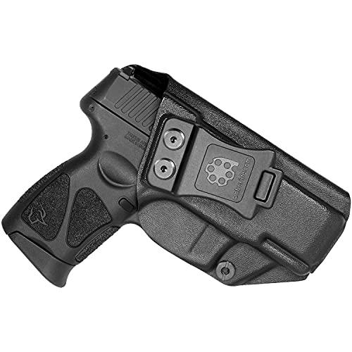 Amberide IWB KYDEX Holster Fit: Taurus G3C / G2C / G2S & Millennium G2 PT111 / PT140 Pistol | Inside Waistband | Adjustable Cant | US KYDEX Made (Black, Right Hand Draw (IWB))