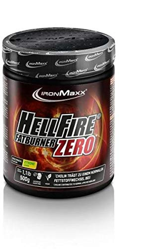 IronMaxx Hellfire Fatburner ZERO Powder - Dose - Zitrone, 500 g
