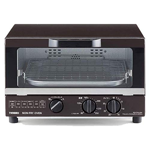 ツインバード ノンフライオーブン TS-4054BR トースターサイズ ノンフライ料理でカロリーオフ コンパクト 正規品 保証付