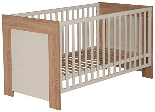 roba Kombi Kinderbett, 70x140 cm, Babybett 3-fach höhenverstellbar, Baby- & Kinderbett umbaubar zum Juniorbett