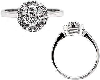 Verona Jewelry Women 18K White Gold Diamond Ring - Size 7.0/3.66g / 0.22ct
