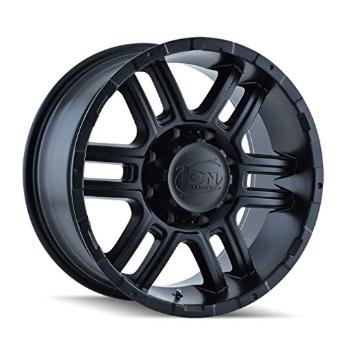 ION 179 Alloy Wheel/Rim Matte Black Size 16x8 INCH Bolt Pattern 5X114.3 Offset 10 Center BORE 83.82 (Priced Individually) Center CAPS Included, Lug Nuts NOT Included