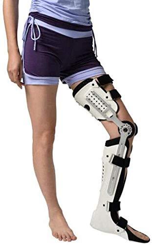 Postes posterior a la rodilla, correa de rodilla con bisagras ajustable con correa, férula de la ortesis de la rodilla de la pierna completa, para la protección preventiva de la articulación de la rod