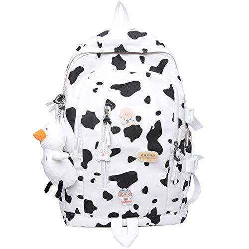 LZL Mochilas Bolsas de la Escuela de Vacas manchadas Tendencia Casual Daypacks Secundario Colegio Estudiantes Mochilas Escuela Viajes Creatividad Mochila Mochila (Color : A)