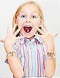 Tacobear 12 Stück Freundschaftsarmband Armbänder Kinder Perlenarmband mit Anhänger Tiere Einhorn Armband Kristall Charm Armband für Mädchen Mitgebsel Kindergeburtstag Gastgeschenke (Einschichtig) - 3