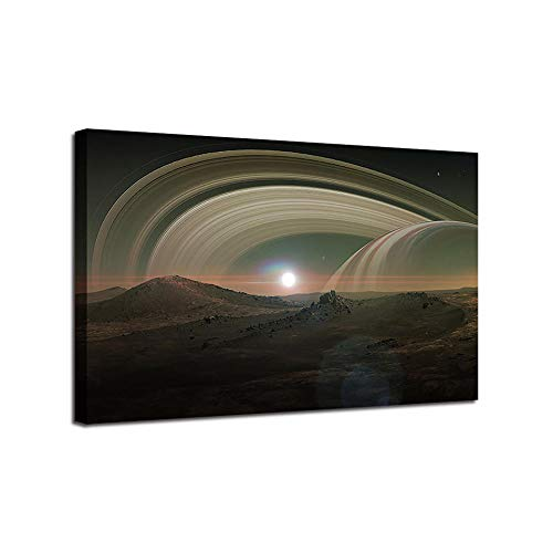 Modern Canvas Poster Planet Ring Posters And Prints Pictures Wall Art Canvas For Living Room Home Decor 80X120Cm Frameless
