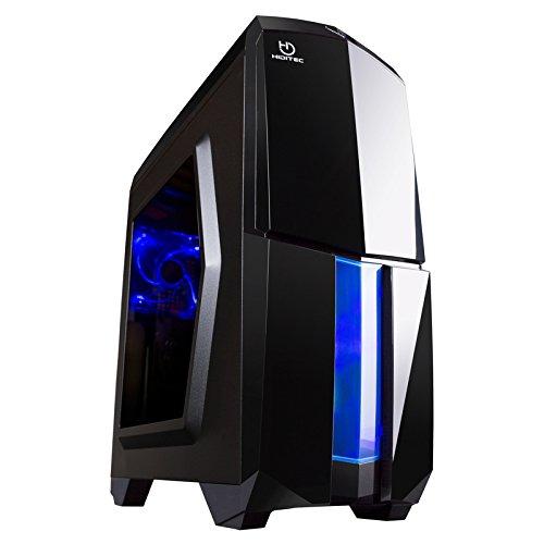 Hiditec NG-X1 BLACK - Caja de ordenador, Micro ATX - ITX, 3 ventiladores de 120mm, estructura acero y plástico, gráficas hasta 345mm, 486mm x 200mm x 447mm, color negro