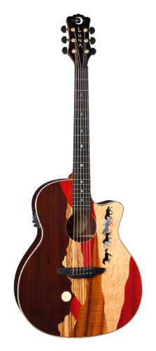 Luna Guitars Vista Mustang - Guitarra electroacústica