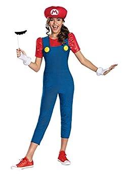 Disguise Tween Girls Mario Costume Size 14/16