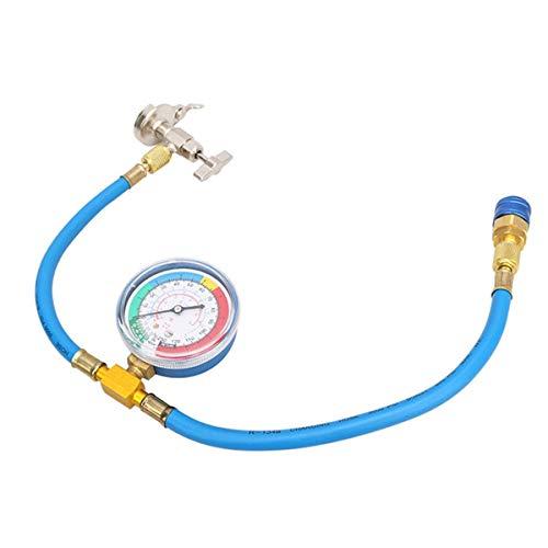 Super1Six Auch Auto Klimaanlage, L R134A Klimaanlage Fluoridrohr Freisetzung Kältemittelverbinder Kaltdruckmesser 63 cm