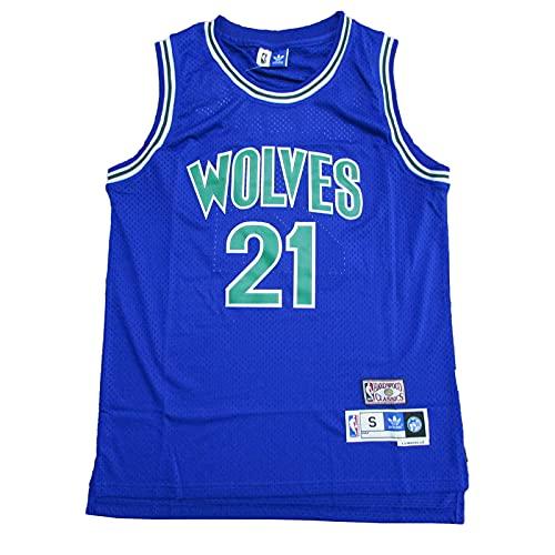 KKSY Camisetas de Hombre Kevin Garnett # 21 Timberwolves Camisetas de Baloncesto Chaleco Transpirable,D,S