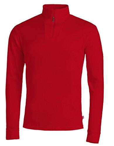 Medico Shirt de ski - Polaire / Pull à col roulé zippé Homme - Taille: XXXX-Large - Rouge