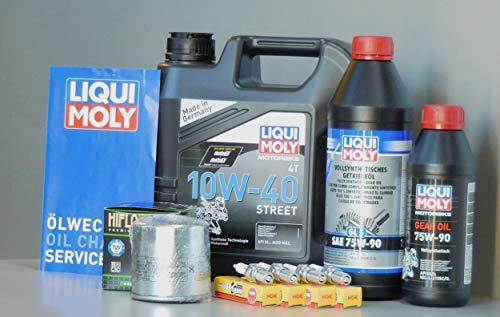 MotorFunSports Kit d'entretien BMW K100 avec filtre à huile, bougie d'allumage, service d'inspection et changement d'huile