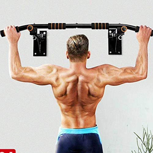 Gets Pull Up Bar Wall Mounted Chin up Bar Strength for Home Use, Wall Mount Chin Exercise Bar Upper Body Workout Bar, Horizontal Bar Fitness Equipment (Black)