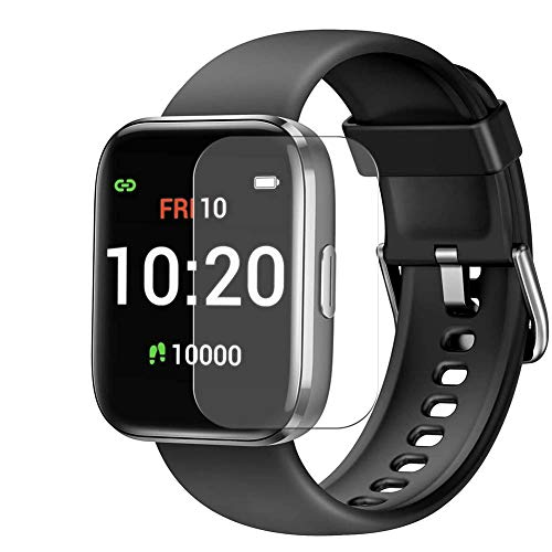 """Puccy 3 Pack Screen Protector Film, compatible with Letsfit IW1 1.4"""" Smartwatch Smart watch TPU Guard ( Not Tempered Glass Protectors )"""